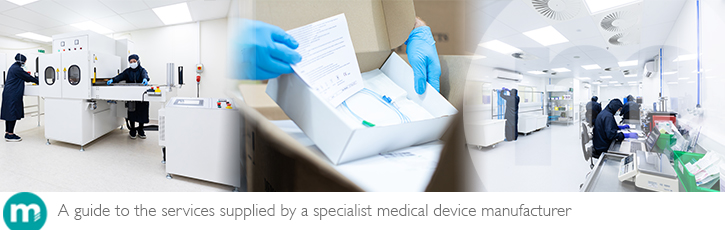 A guide to the services supplied by a specialist medical device manufacturer
